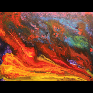 Abstract Art / Action Art: Warmth from the Waves